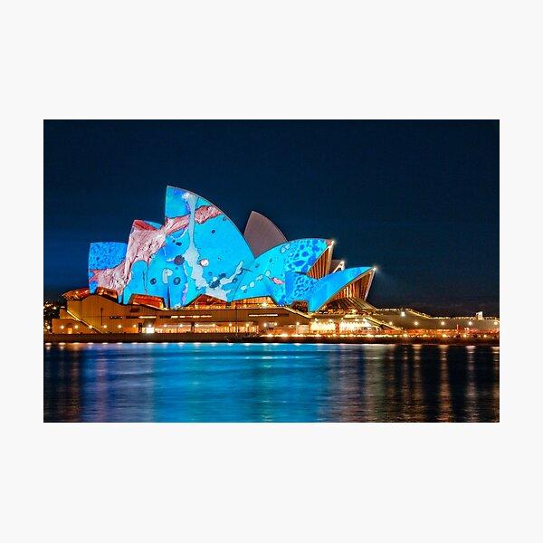 Vivid Opera House from Circular Quay Photographic Print
