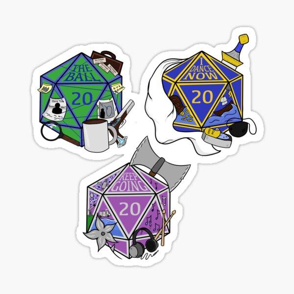 mini FH the boys dice stickers Sticker
