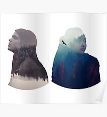 Octavia & Raven - The 100 - Forest Poster
