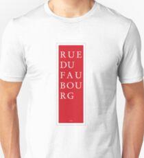 Rue du Faubourg - Paris T-Shirt