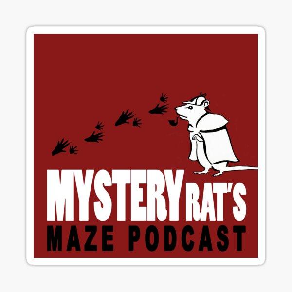 Mysteryrat's Maze Podcast logo Sticker