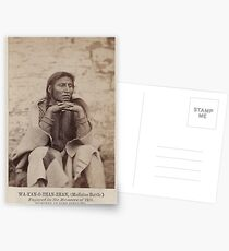 Portraits of Imprisoned Modoc Warriors , photographed by  Louis Herman Heller 16 Postcards
