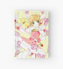 Sakura gegen Holz + Regen Notizbuch