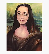 Morticia Lisa Smile Photographic Print
