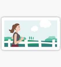 Fresh Air Runner Sticker