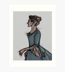 Blue Gown Art Print