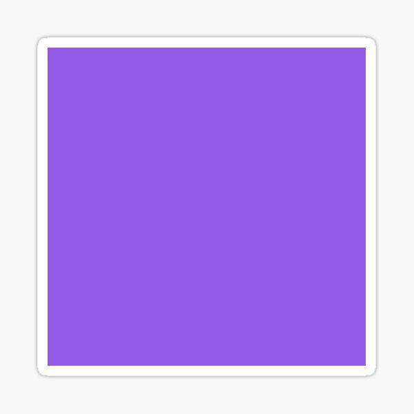 Plain Solid Purple Sticker