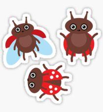 Funny ladybugs  Sticker