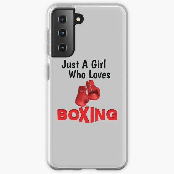 Just a girl who loves Boxing Samsung Galaxy Soft Case
