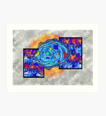 Abstract digital art - Gougelon V2 Art Print