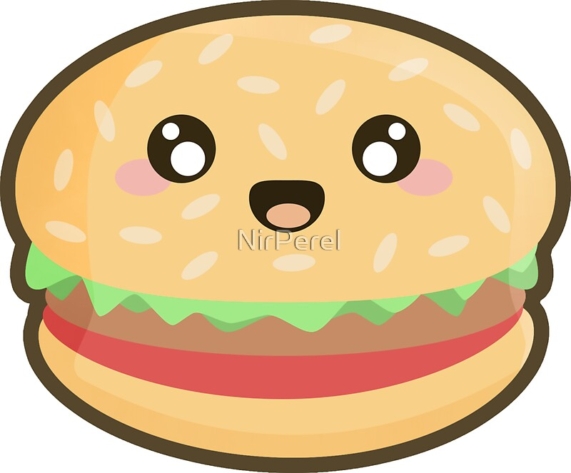 Cartoon hamburger fast food cartoon fast food cartoon cartoon pictures - Quot Kawaii Hamburger Quot Stickers By Nirperel Redbubble