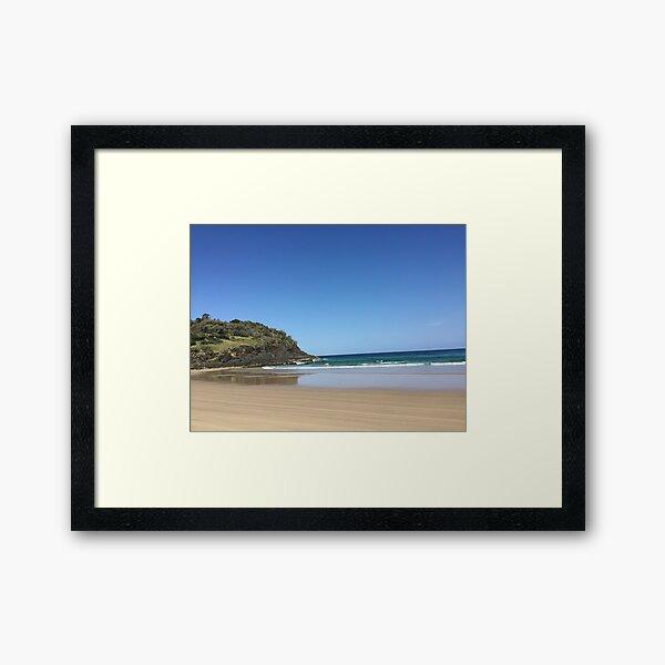 aussie beach headland Framed Art Print