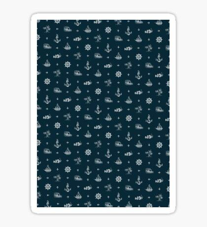 Nautical Pattern - Dark Sticker