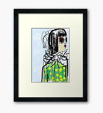 smart girl Framed Print
