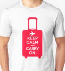 Keep Calm and Carry on Luggage T-Shirt