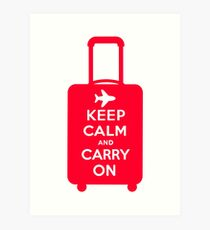 Keep Calm and Carry on Luggage Art Print