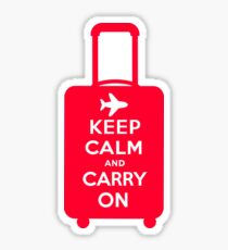 Keep Calm and Carry on Luggage Sticker