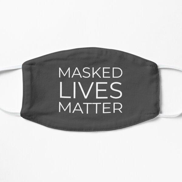 Masked Lives Matter Mask | Online Face Mask - KaiWuDesign Flat Mask