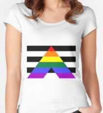 Straight Ally Pride Flag Women's Fitted Scoop T-Shirt