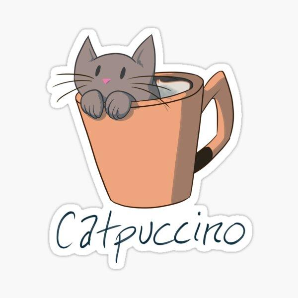 Catpuccino Sticker