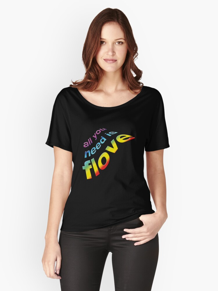 All you need is flove Women's Relaxed Fit T-Shirt Front