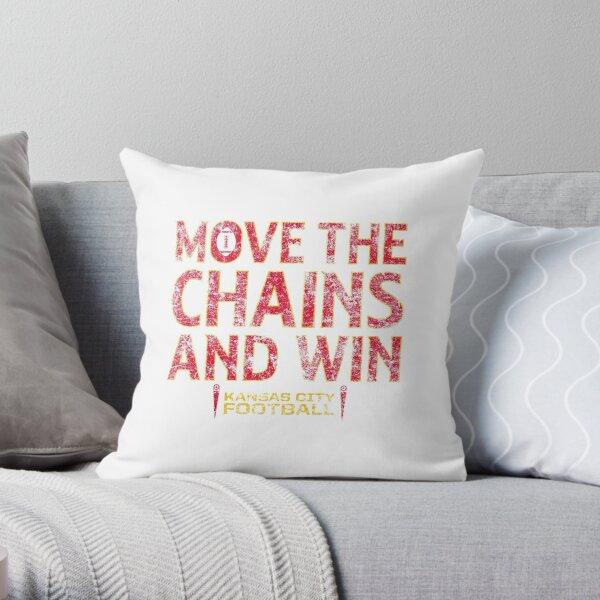 Move The Chains & Win - Kansas City (White) Throw Pillow