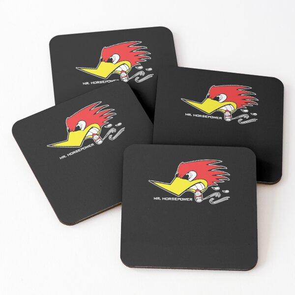 Mr Horsepower Clay Smith Cams Cigar Smoking Woodpecker Shirt For Man For Women Handmade Customize T-Shirt Coasters (Set of 4)