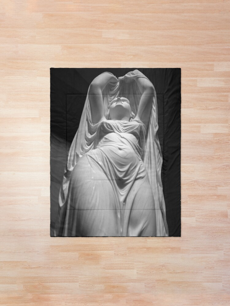 Alternate view of Undine Rising from the Waters. Chauncey Bradley Ives Comforter