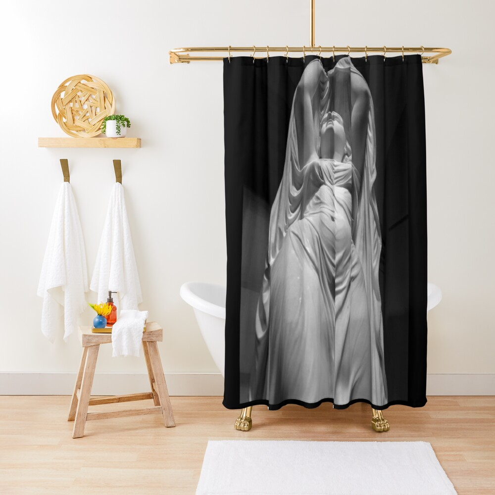 Undine Rising from the Waters. Chauncey Bradley Ives Shower Curtain