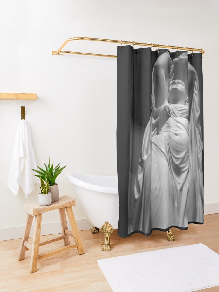 Alternate view of Undine Rising from the Waters. Chauncey Bradley Ives Shower Curtain
