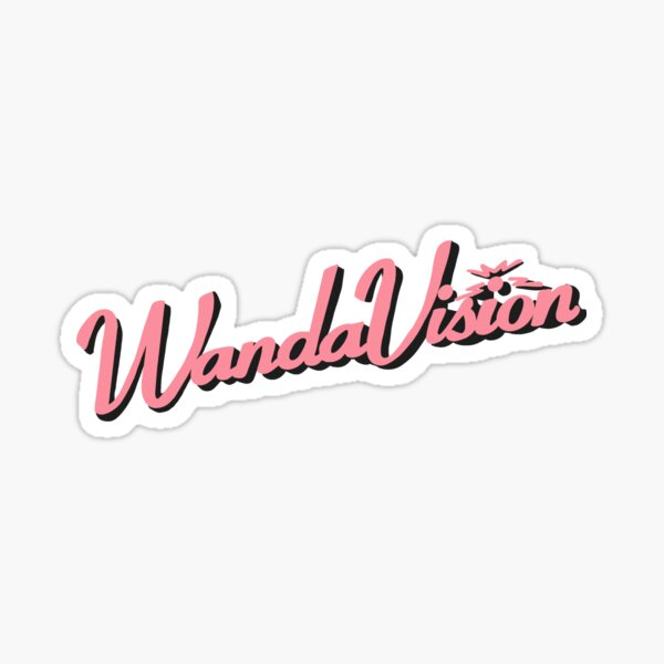 WandaVision Vintage Logo Design Pink Sticker