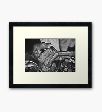 """""""He Sold Coins and This Ring""""   Framed Print"""