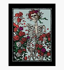 Skeleton & Roses Photographic Print