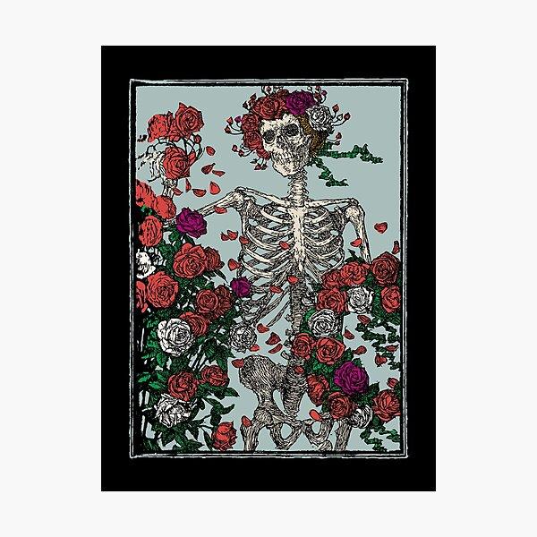 Skeleton & Roses Photographic Print