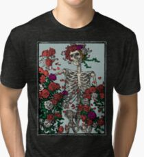 Skeleton & Roses Tri-blend T-Shirt