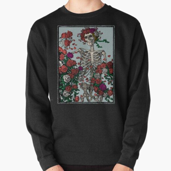 Skeleton & Roses Pullover Sweatshirt