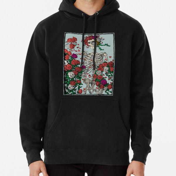 Skeleton & Roses Pullover Hoodie