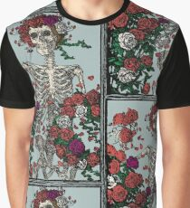 Skeleton & Roses Graphic T-Shirt