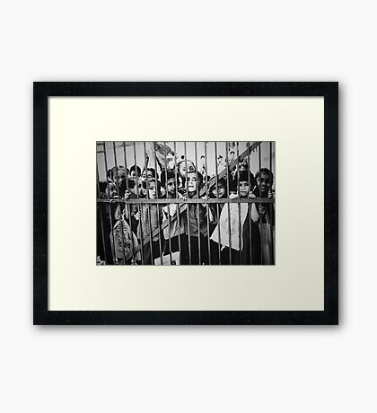 Rushing to the Gate Framed Print