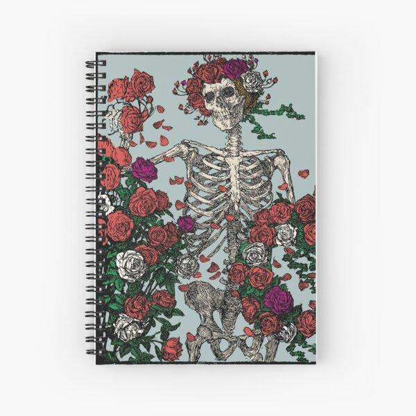 Skeleton & Roses Spiral Notebook