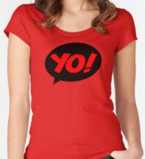 HIP-HOP ICONS: YO! RECORDS Women's Fitted Scoop T-Shirt
