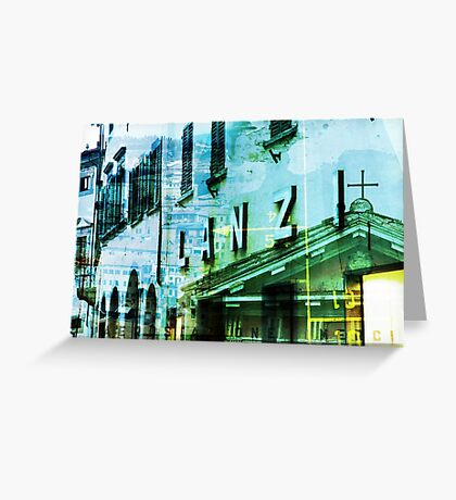 Italy - Photomontage Greeting Card