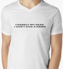 Classic Movie Quote Men's V-Neck T-Shirt