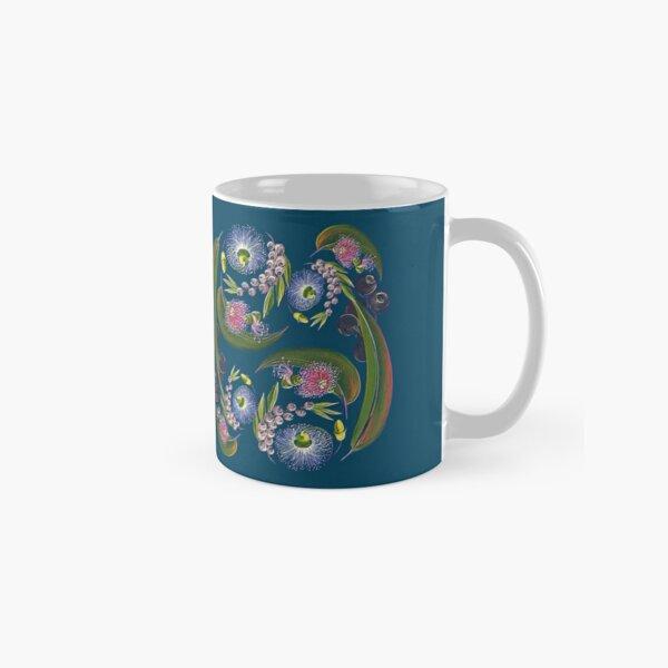 FLORAL ~ Folkart Gumnuts for Zipped Hoodies by tasmanianartist 04012021 Classic Mug