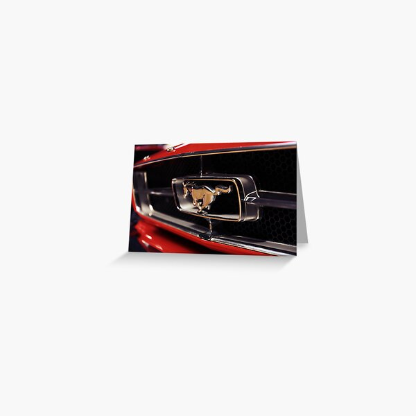 ford mustang logo Greeting Card