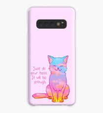 """Your Best Is Enough"" Sunset Cat Case/Skin for Samsung Galaxy"