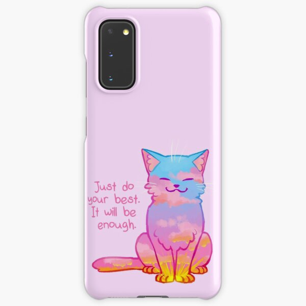 """""""Your Best Is Enough"""" Sunset Cat Samsung Galaxy Snap Case"""