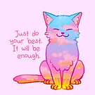 """""""Your Best Is Enough"""" Sunset Cat by thelatestkate"""