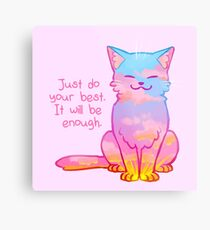 """Your Best Is Enough"" Sunset Cat Metal Print"