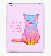 "Vinilo o funda para iPad El gato del atardecer ""Your Best Is Enough"""